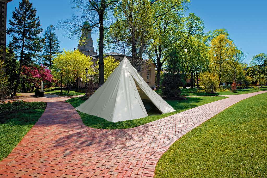 Students woke last Tuesday morning to find a tent pitched on the quad. Onlookers were confused until a crowd witnessed President Alison Byerly emerge at ... & Byerly u0027in tentu0027 on growing student body u2013 The Lafayette