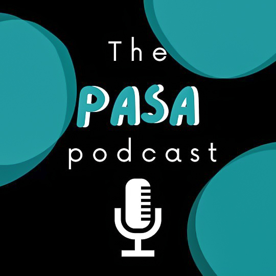 The album cover of the PASA podcast.